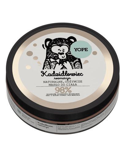 YOPE Kadzidłowiec & Rozmaryn Naturalne odżywcze masło do ciała - 200 ml - produkcja kolagenu - cena, właściwości, opinie
