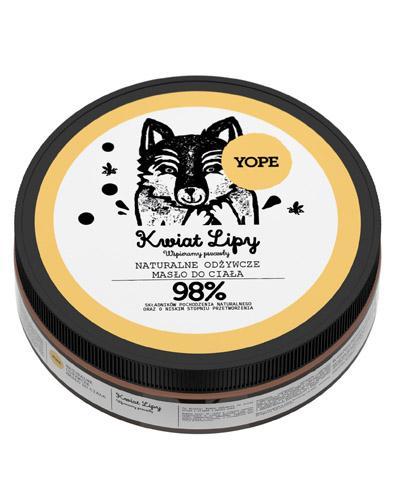 YOPE Kwiat lipy Naturalne odżywcze masło do ciała - 200 ml - wzmacnia i wygładza - cena, opinie, właściwości