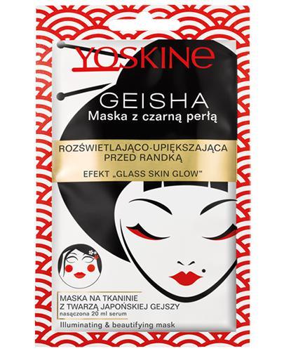 Yoskine Geisha Maska z czarną perłą rozświetlająco-upiększająca - 1 szt. - cena, opinie, właściwości - Drogeria Melissa