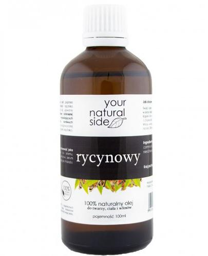 Your Natural Side Rycynowy 100% naturalny olej do twarzy, ciała i włosów - 100 ml - cena, opinie, wskazania - Drogeria Melissa
