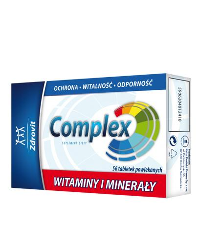 ZDROVIT Complex witaminy i minerały - 56 tabl. Ochrona, witalność i odporność. - Apteka internetowa Melissa