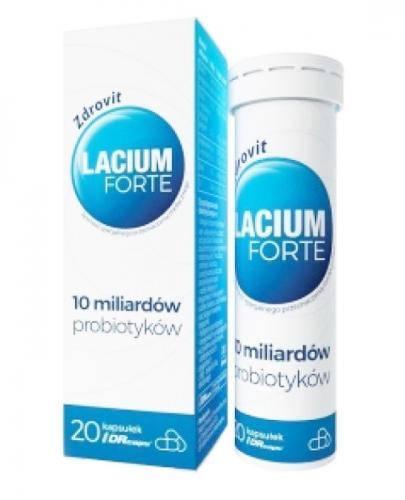 ZDROVIT Lacium Forte - 20 kaps. Data ważności: 2019.11.30 - Apteka internetowa Melissa