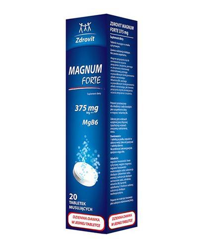 ZDROVIT MAGNUM FORTE 375 mg - 20 tabl. mus. - Apteka internetowa Melissa
