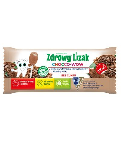 Zdrowy lizak Chocco-Wow o smaku kakao - 1 szt Dla mocnych kości - cena, opinie, skład  - Apteka internetowa Melissa