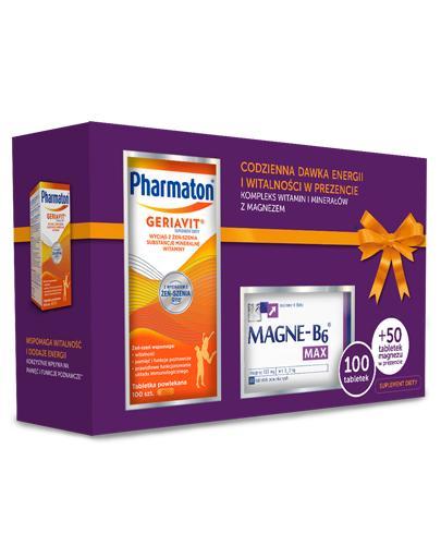Zestaw Pharmaton Geriavit - 100 tabl. + Magne B6 Max - 50 tabl. - cena, opinie, dawkowanie - Apteka internetowa Melissa