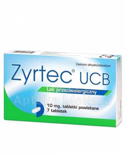 ZYRTEC UCB 10 mg - 7 tabl. - Apteka internetowa Melissa