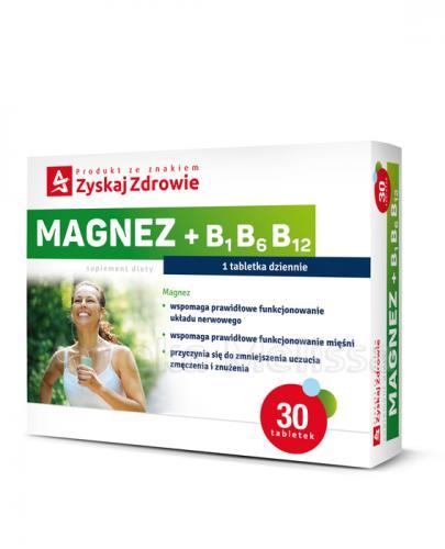 ZYSKAJ ZDROWIE Magnez + B1 B6 B12 - 30 tabl